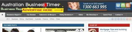 top banner advertising australia business