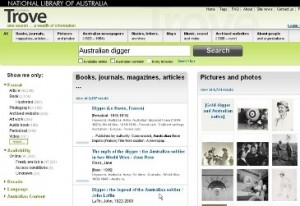 Trove search engine australian digger australian busines times