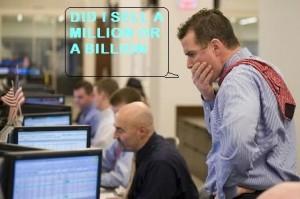 Trader's million dollar mistake  makes Market almost collapse