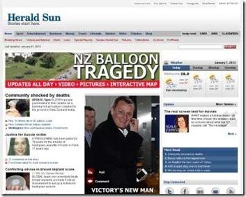 Herald sun  victoria newspaper