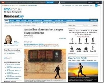 SMH sydney morning herald Business newspaper  australian