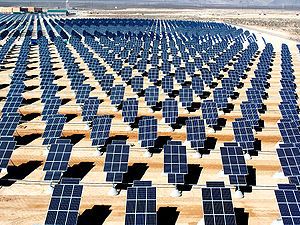 solar energy Giant photovoltaic array