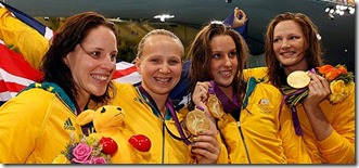 Alicia Coutts, Cate Campbell, Brittany Elmslie, Melanie Schlanger
