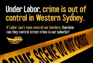 Crime linked to Asylum seekers by Liberal Party ad