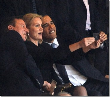 obama uk prime minister selfie