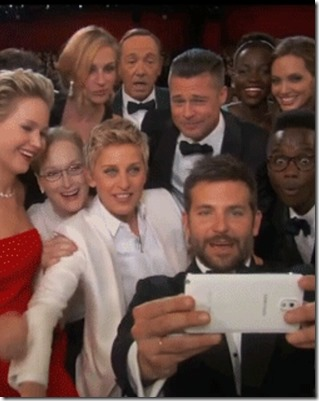 oscar winning selfie 1