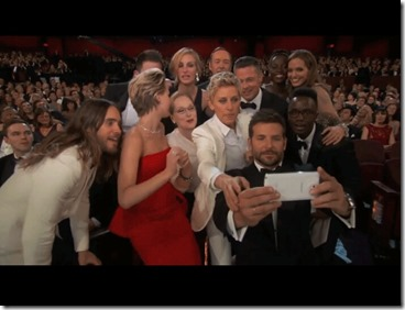 the oscar world famous selfie