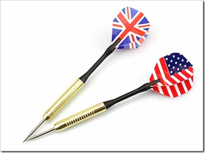 Copper Steel Tip Darts Needle UK  USA National Flag Dart Flights Play Dart