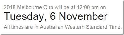 melbourne cup in australia