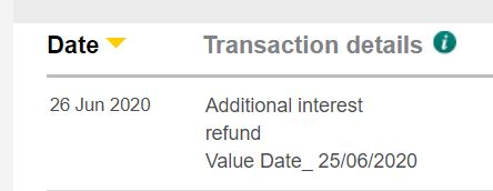 additional interest refund
