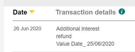 additional interest refund