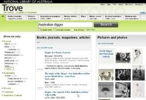 Trove search engine australian digger australian busines times
